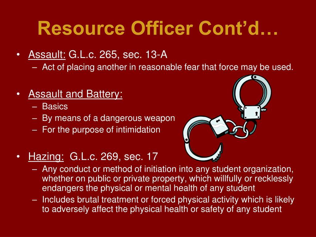 Resource Officer Cont'd…