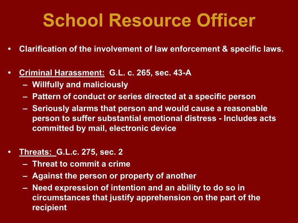 School Resource Officer