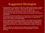 suggested strategies