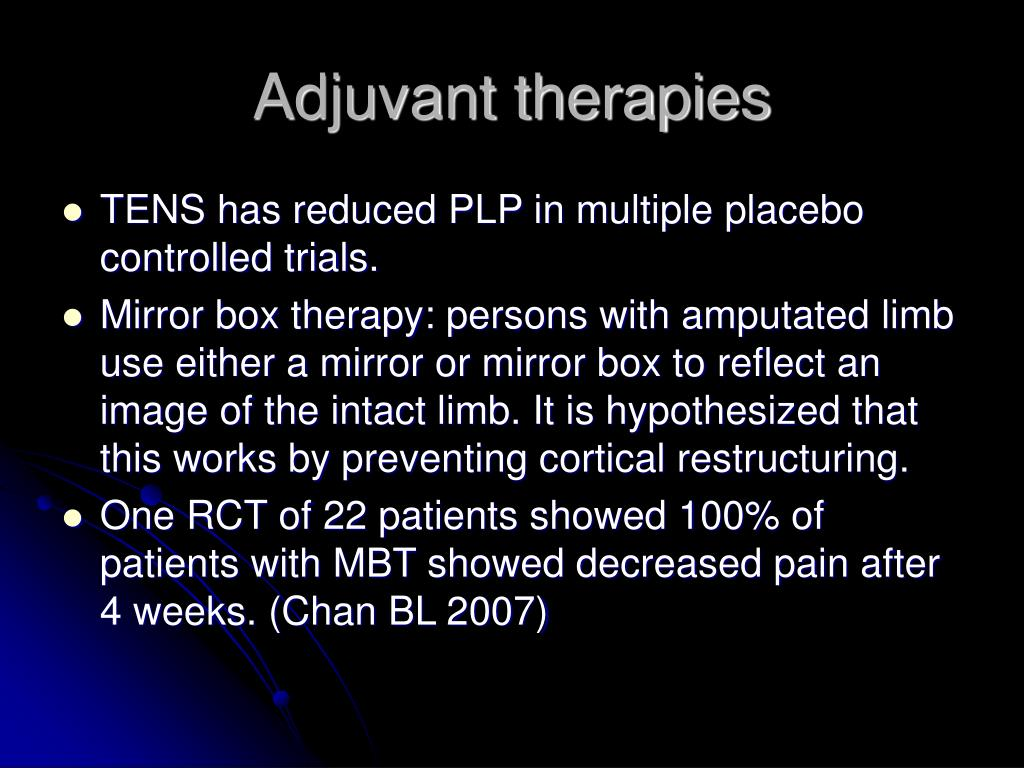 Adjuvant therapies