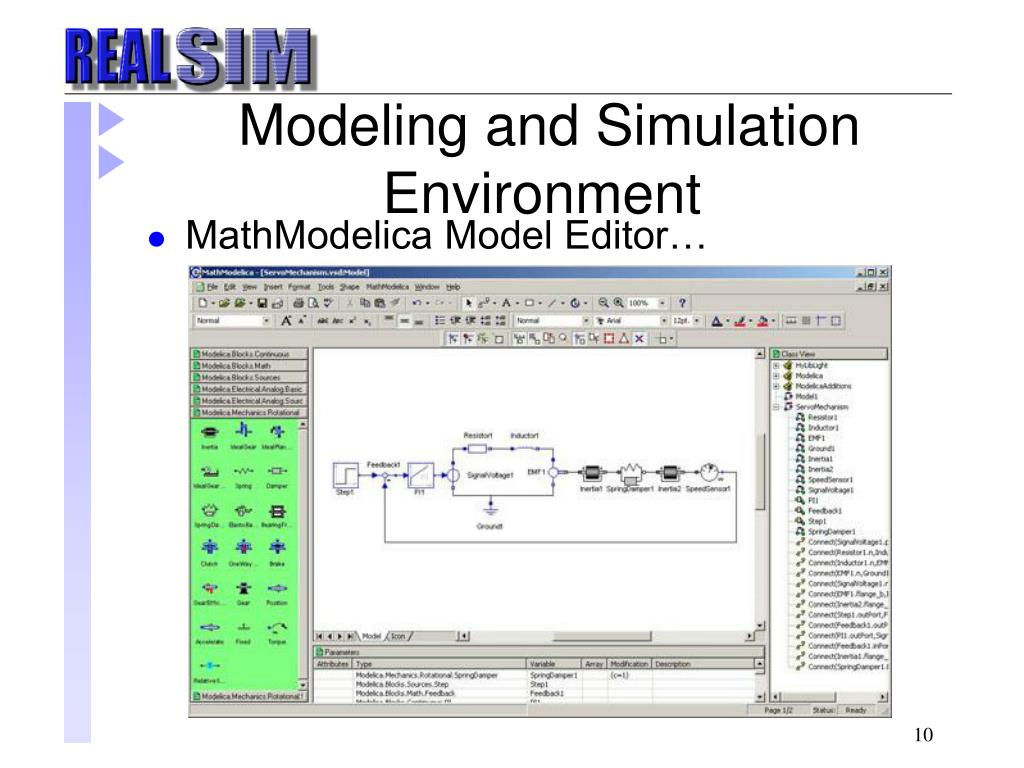 Modeling and Simulation Environment