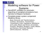 modeling software for power systems