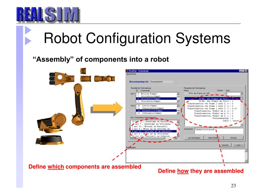 Robot Configuration Systems