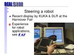 steering a robot