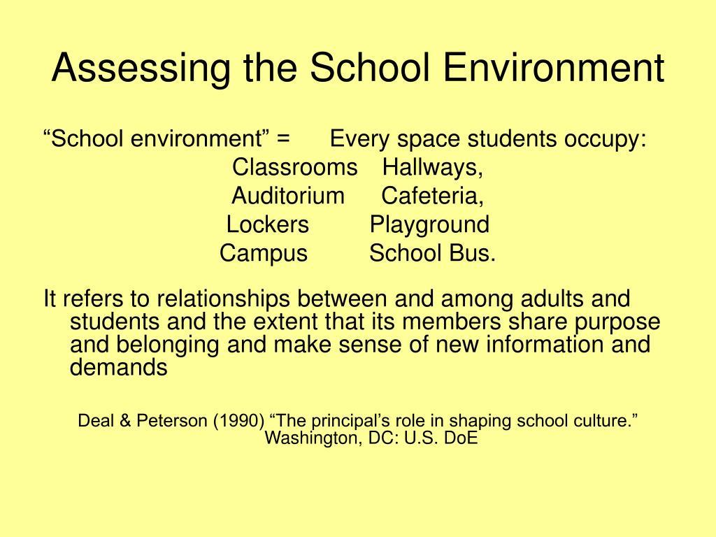 Assessing the School Environment