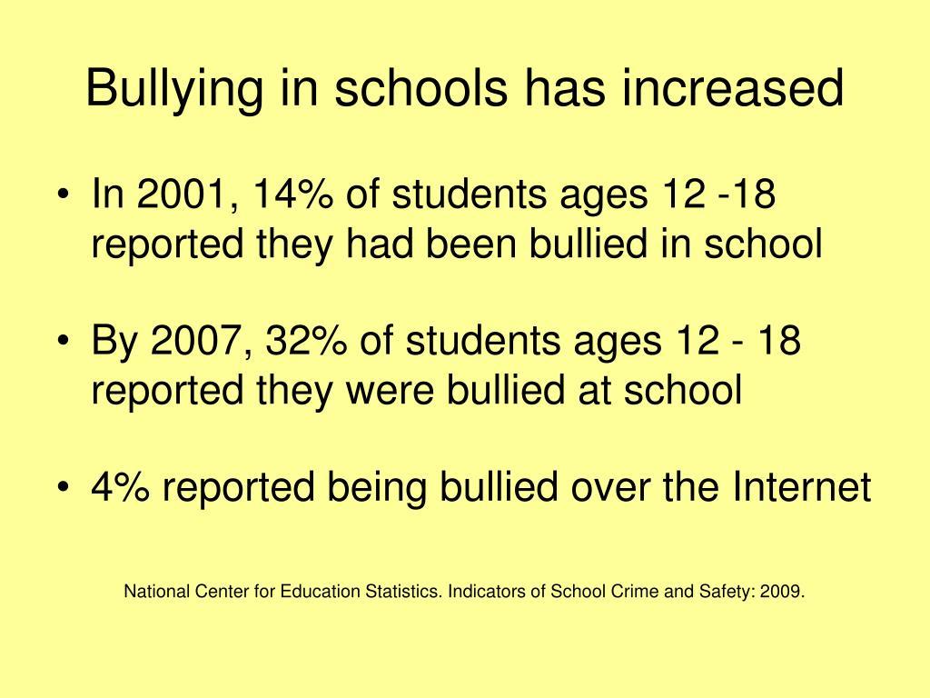 Bullying in schools has increased
