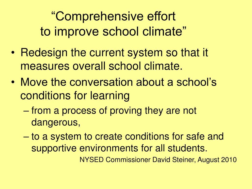 """Comprehensive effort"
