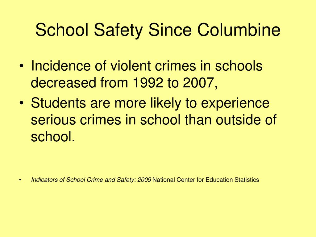 School Safety Since Columbine