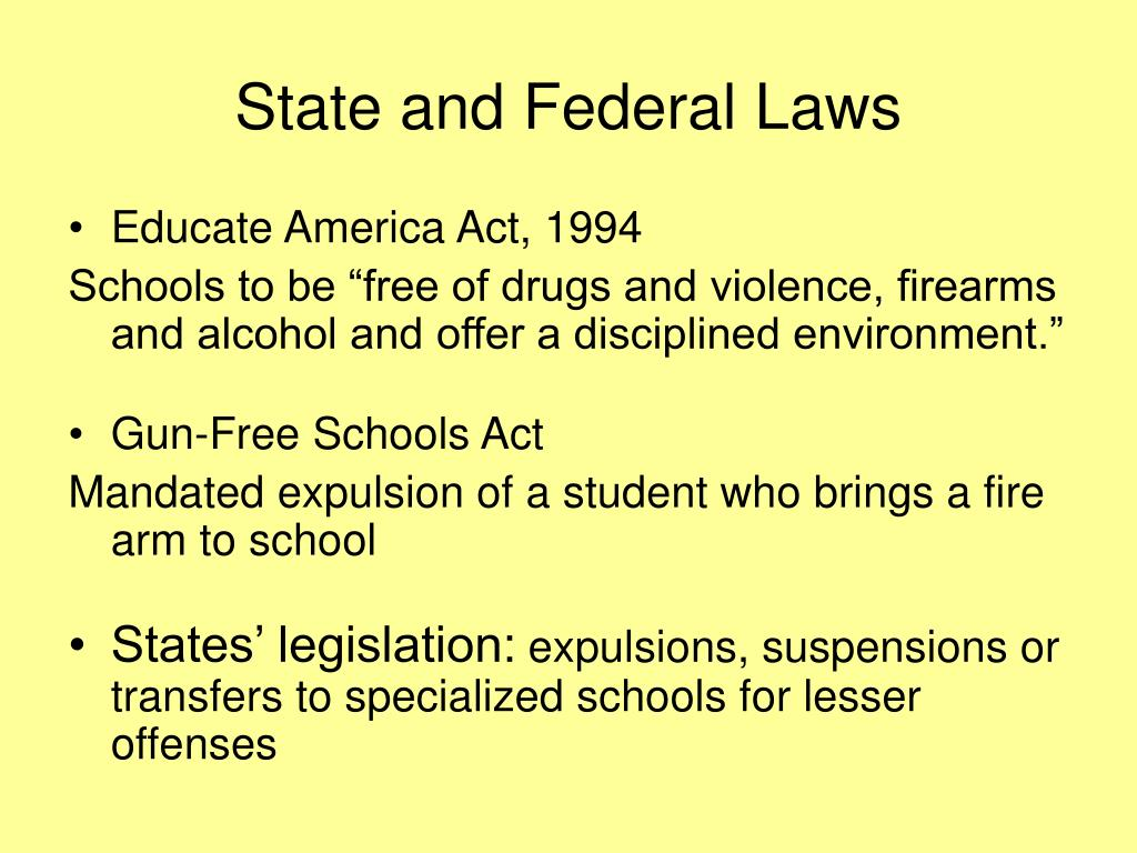 State and Federal Laws