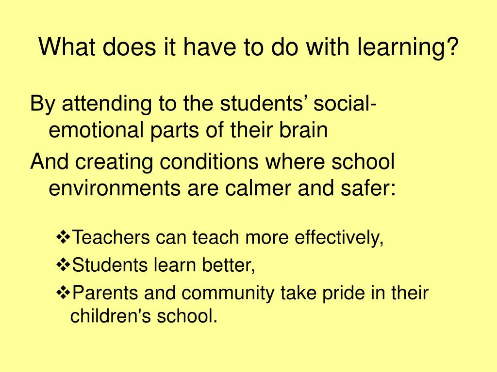 What does it have to do with learning?