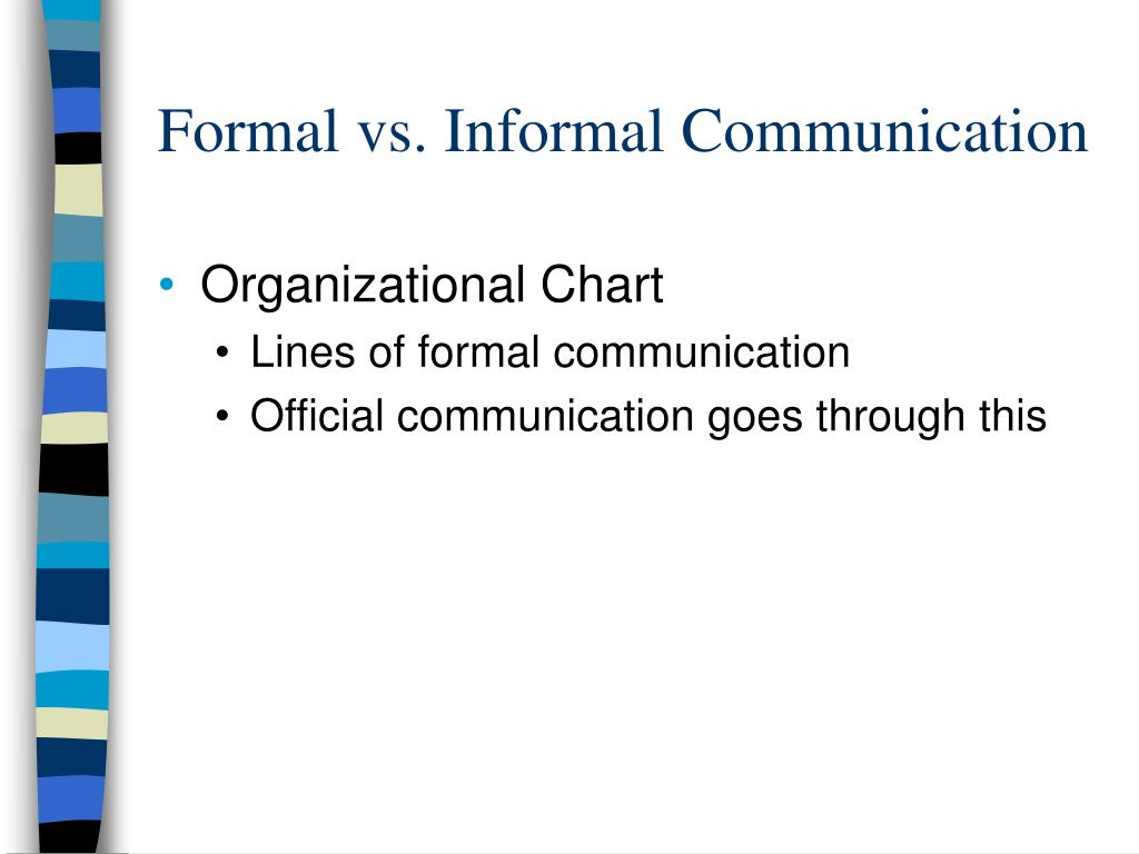 Formal vs. Informal Communication