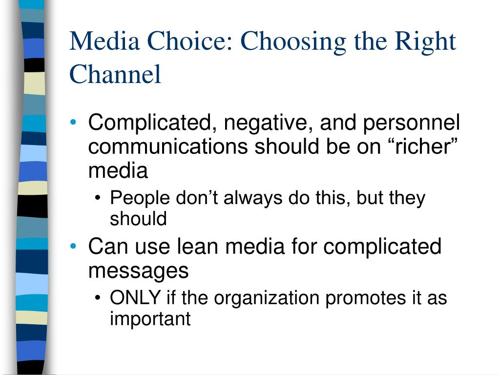 Media Choice: Choosing the Right Channel