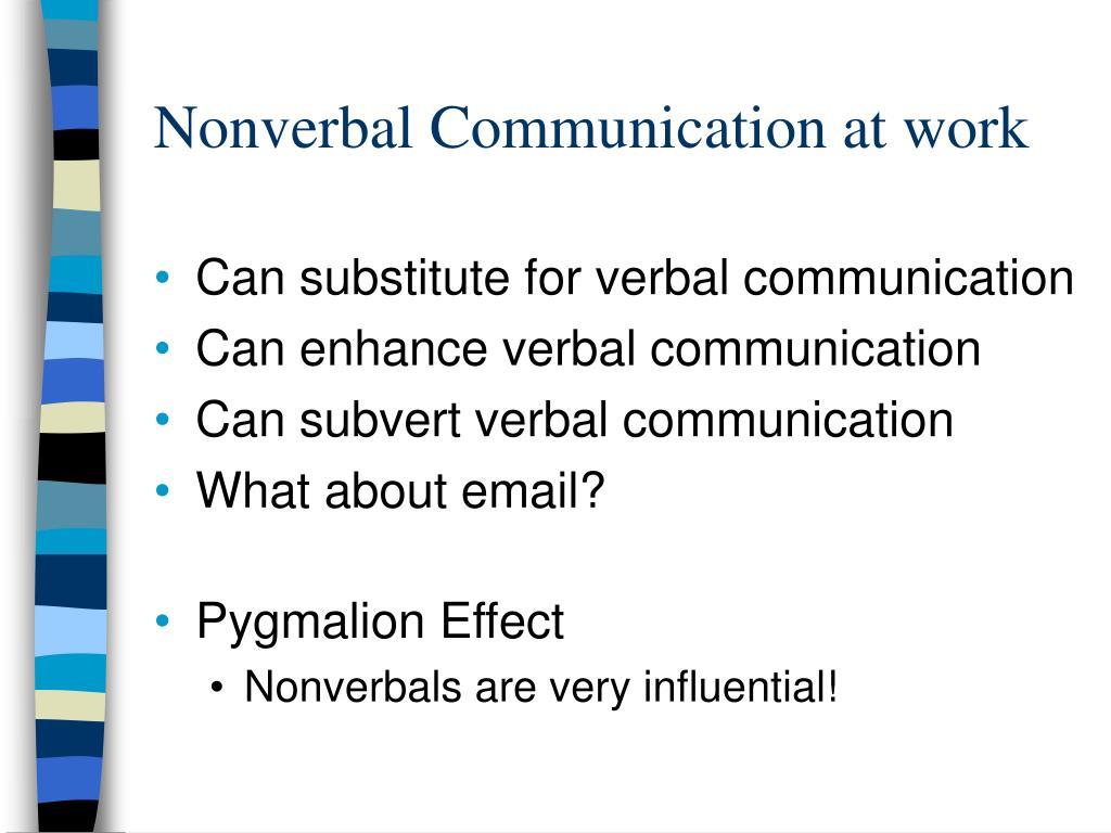 Nonverbal Communication at work