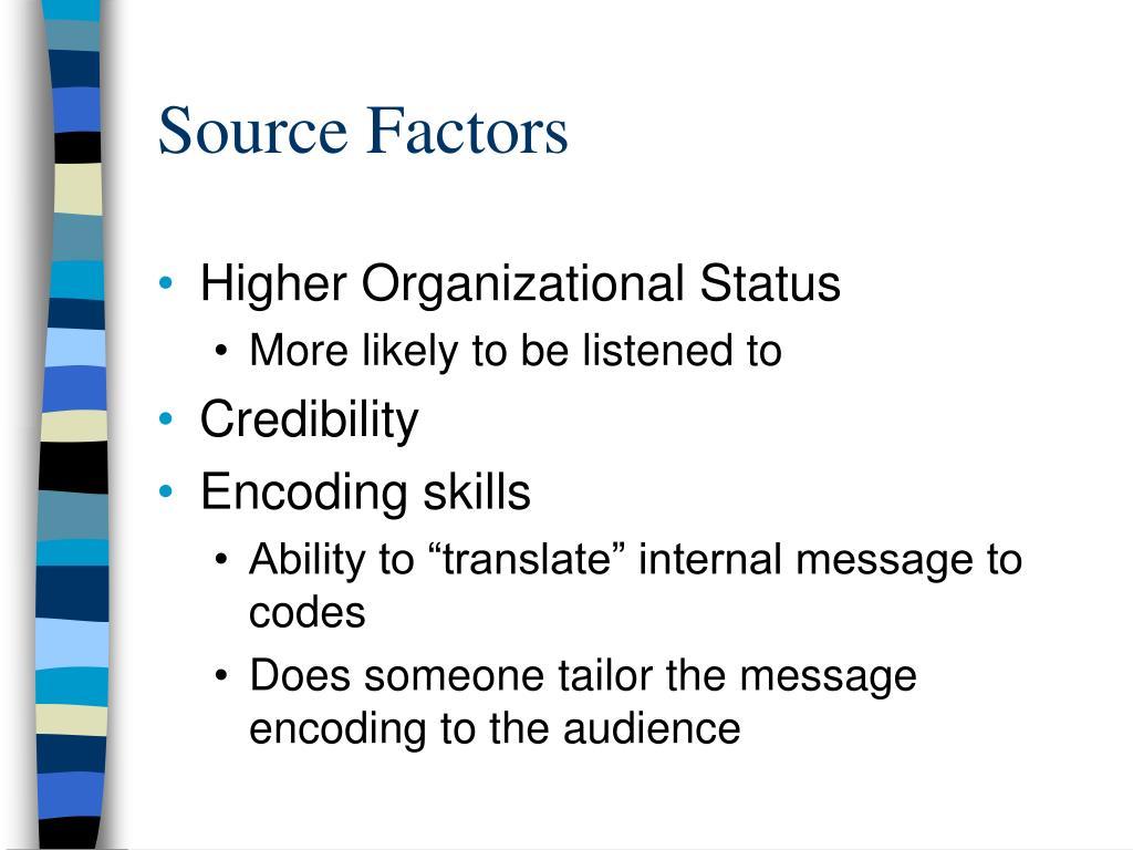Source Factors