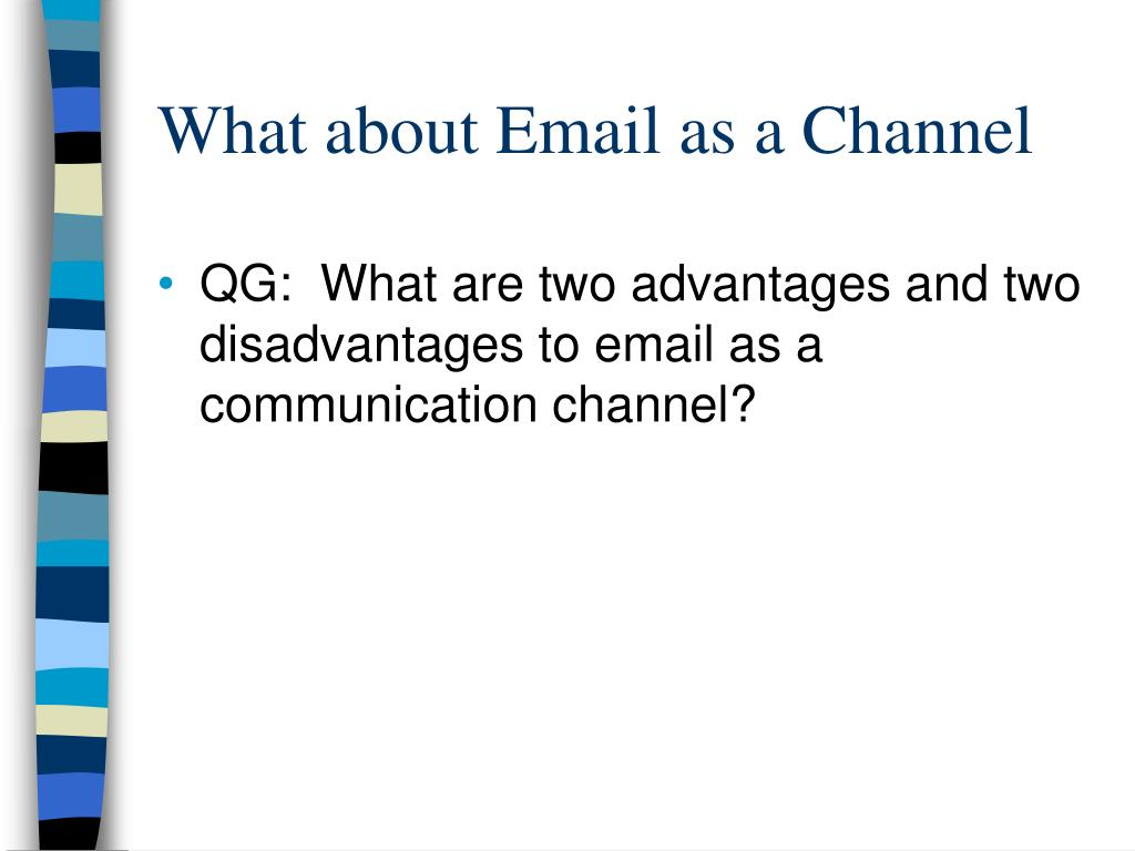 What about Email as a Channel