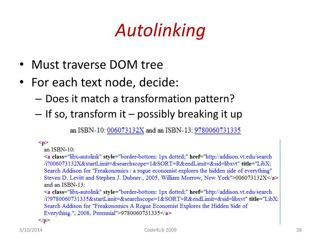 Autolinking