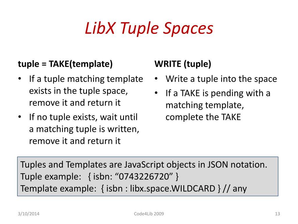 LibX Tuple Spaces
