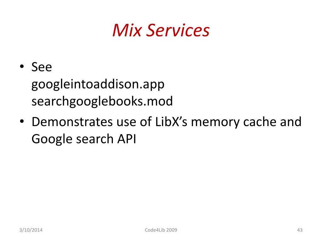 Mix Services