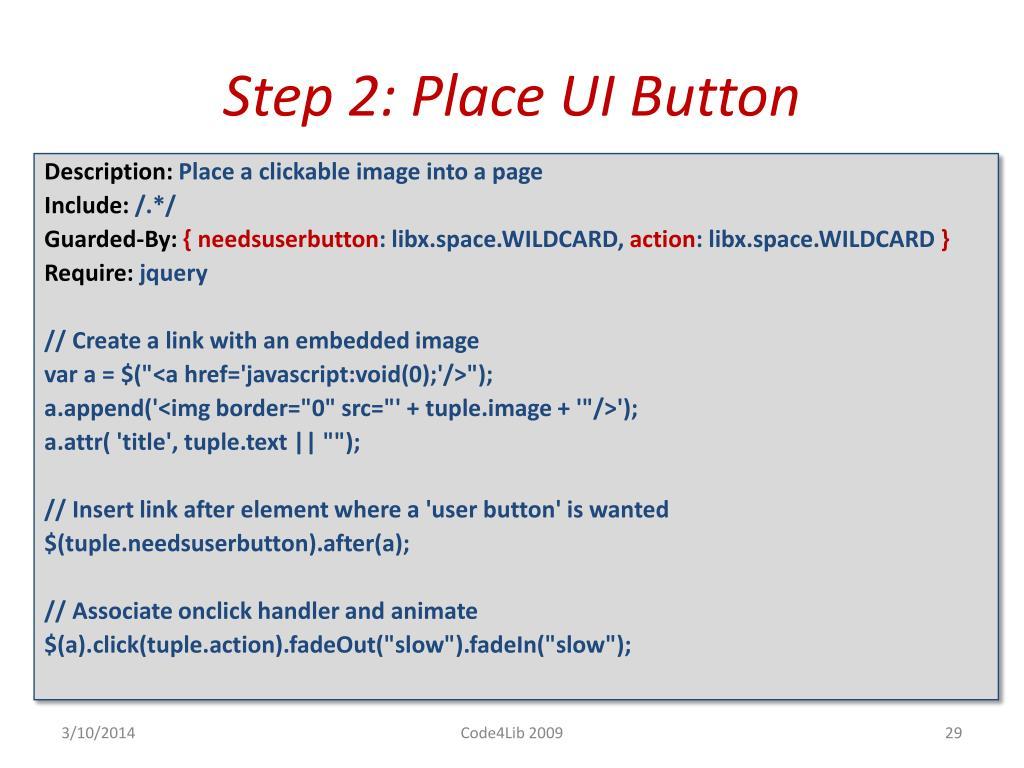 Step 2: Place UI Button