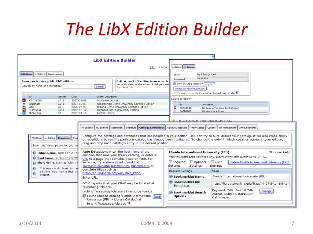 The LibX Edition Builder
