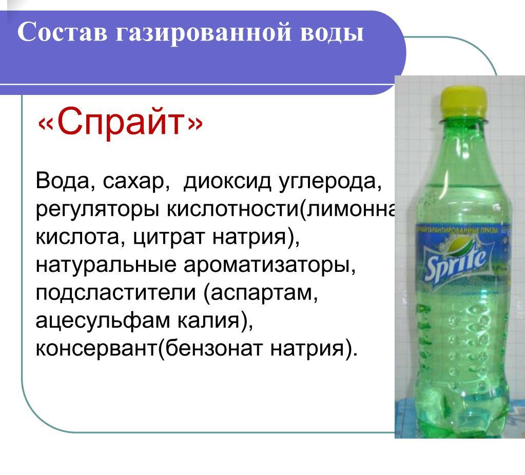 Состав газированной воды