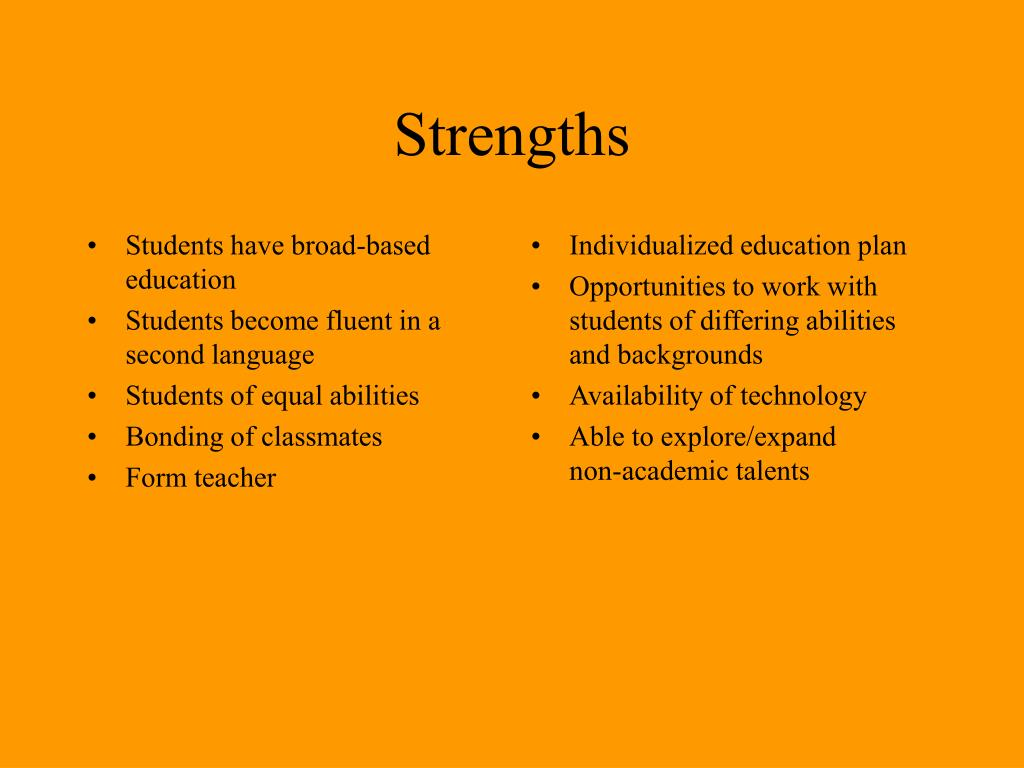 Students have broad-based education