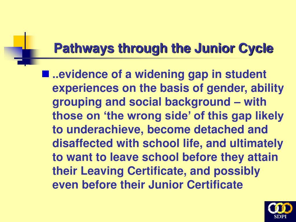 Pathways through the Junior Cycle