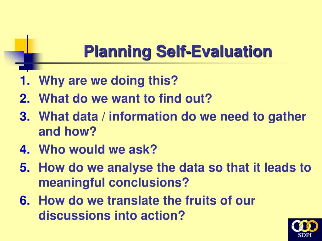 Planning Self-Evaluation