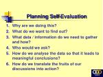 planning self evaluation