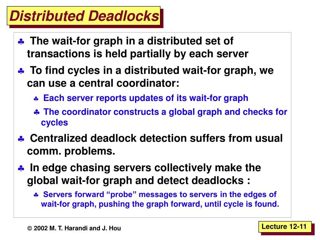 Distributed Deadlocks