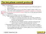the two phase commit protocol