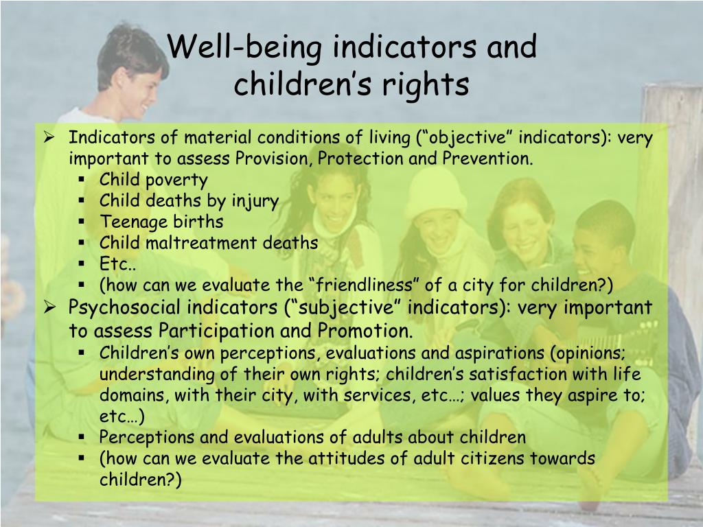 Well-being indicators and