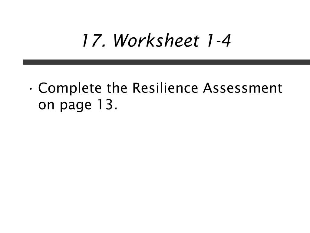 17. Worksheet 1-4