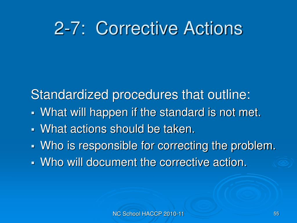 2-7:  Corrective Actions