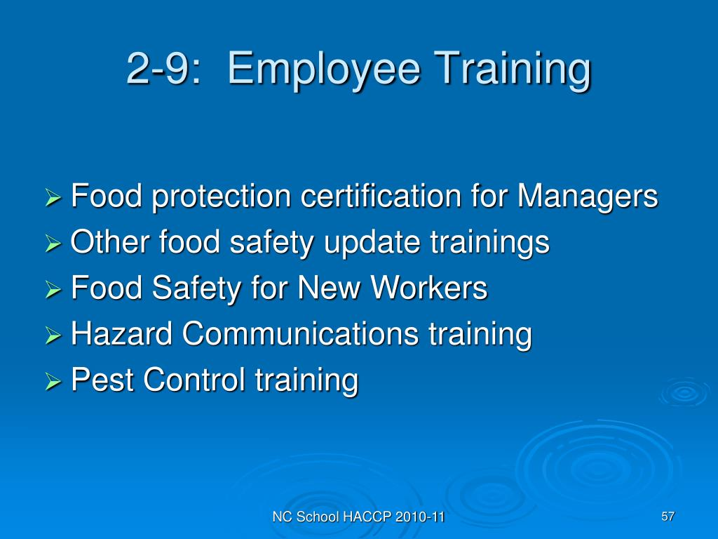 2-9:  Employee Training