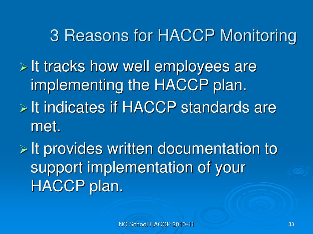 3 Reasons for HACCP Monitoring