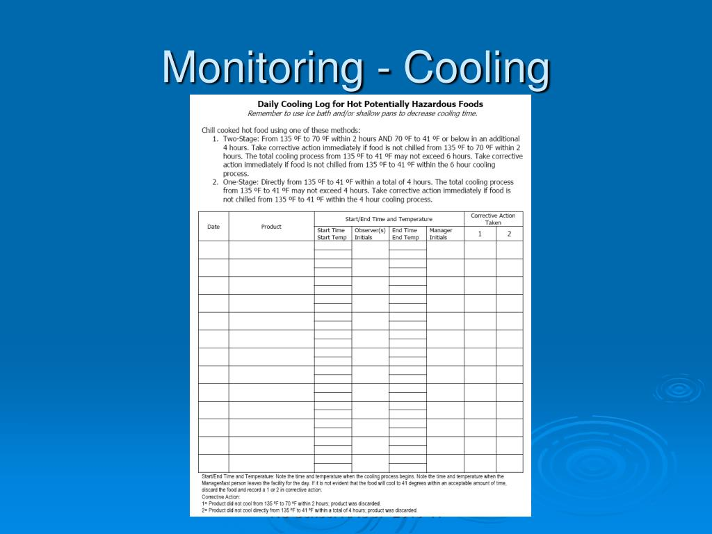 Monitoring - Cooling