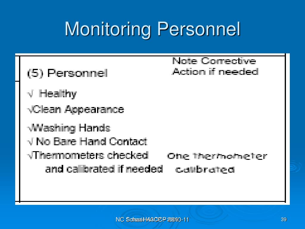 Monitoring Personnel
