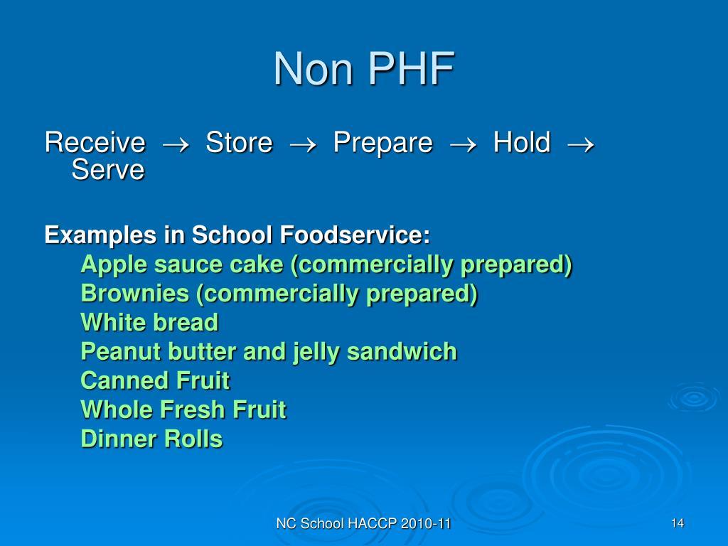 Non PHF