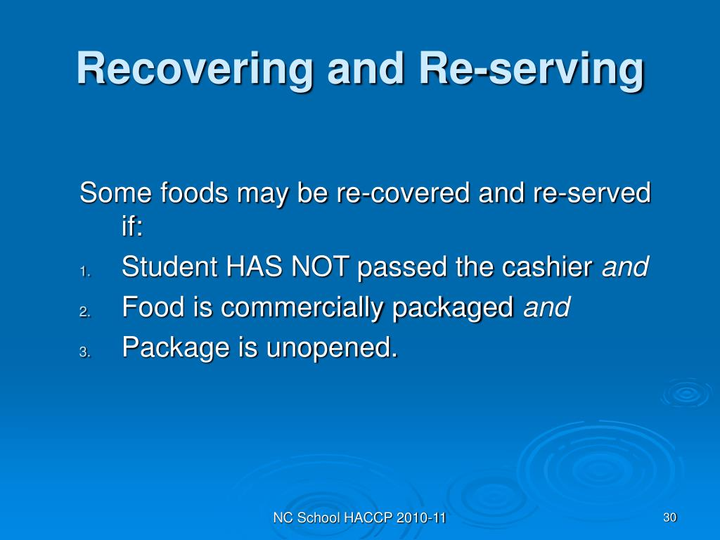 Recovering and Re-serving