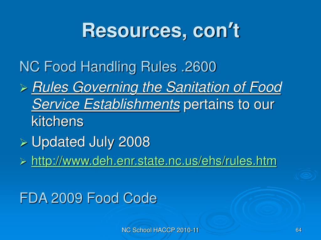 Resources, con