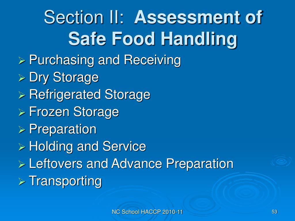 Section II: