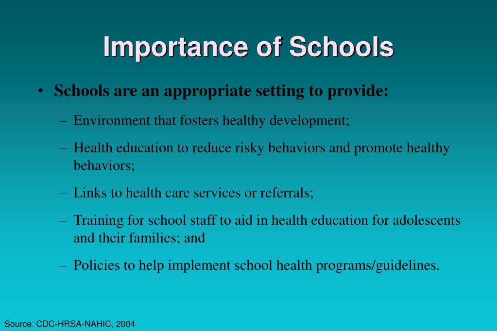 Importance of Schools