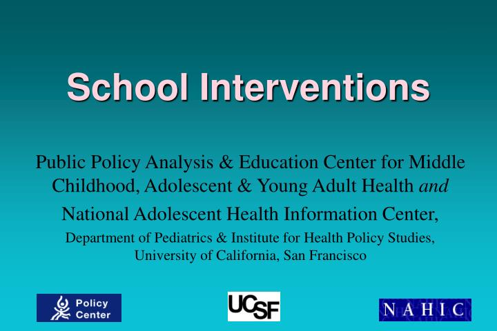 School interventions l.jpg