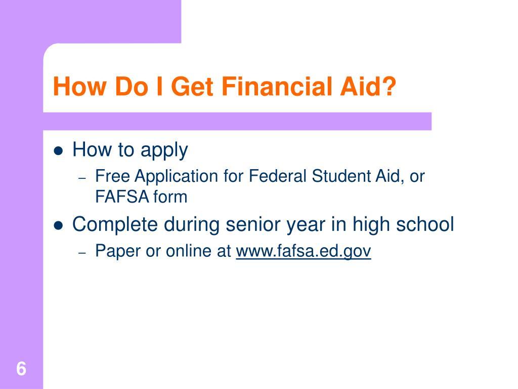 How Do I Get Financial Aid?