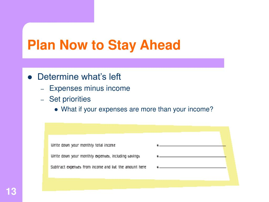 Plan Now to Stay Ahead