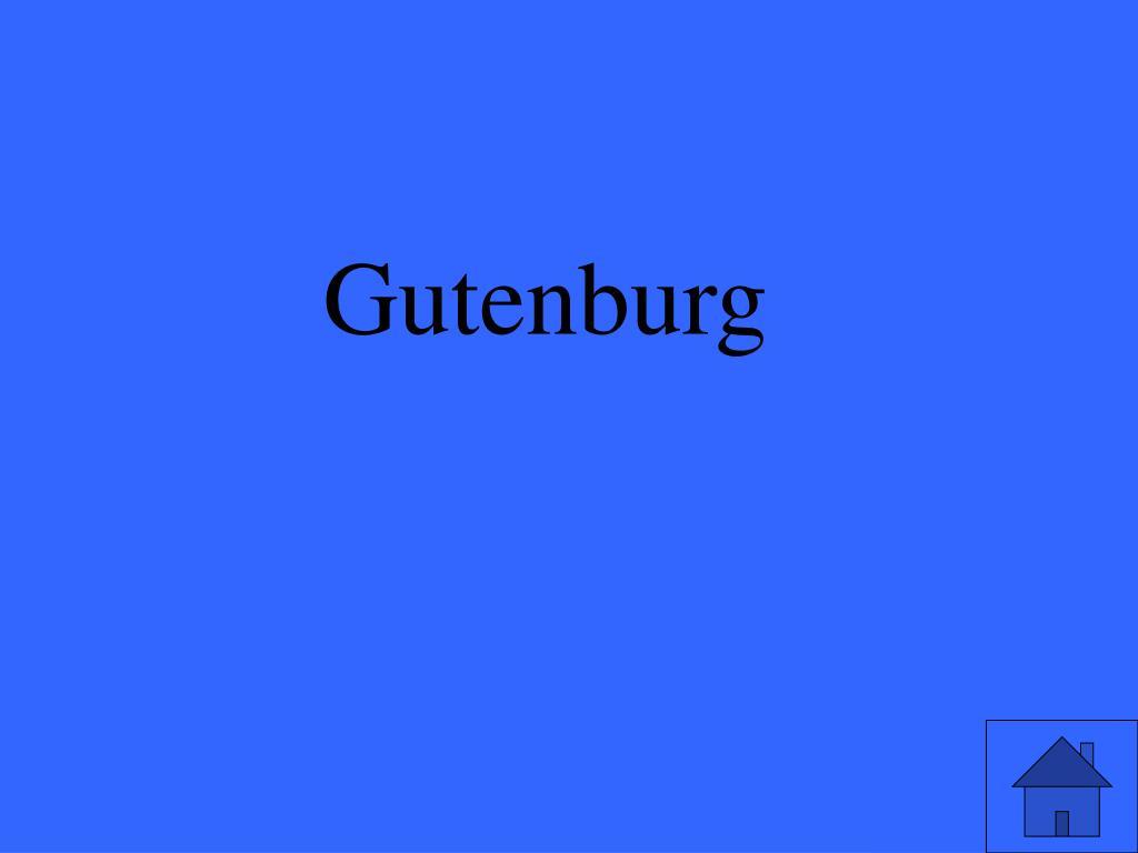 Gutenburg