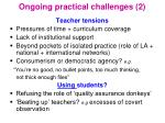 ongoing practical challenges 2