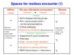 spaces for restless encounter 1