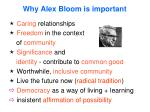 why alex bloom is important